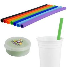 Silicone Straw in Round Case Trade Show Giveaways, Pms Colour, Custom Cups, Promote Your Business, Food Gifts, Corporate Gifts, Ink Color, Getting Things Done, Drinkware