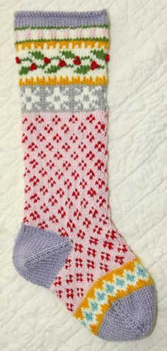 Made by Ann at Nifty Needle. The pattern is Cascade 220 Christmas Stocking by Marji LaFreniere.