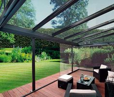 The Glasoase glass patio room from Weinor is the latest and greatest in modern outdoor innovations. #outdoorPatioIdeas