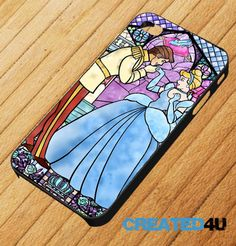 Disney Princess Cinderella Stain Glass Design iPhone 4/4S & iPhone 5 Mobile Phone Case. £6.95, via Etsy.