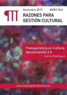 Razones para Gestión Cultural. Nov. 2015