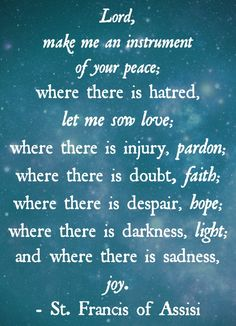 Prayer of St Francis of Assisi