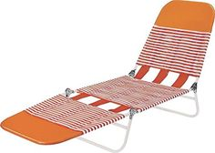 Worldwide Sourcing, Orange PVC Folding Lounge
