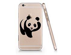 Cute Panda Clear Transparent Plastic Phone Case Phone Cov...