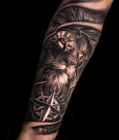 30 Most Beautiful Tattoo Ideas - Page 13 of 31 - Tattoo Designs Lion Forearm Tattoos, Lion Head Tattoos, Mens Lion Tattoo, Full Arm Tattoos, Forarm Tattoos, Best Sleeve Tattoos, Tattoo Sleeve Designs, Arm Tattoos For Guys, Tattoo Designs Men