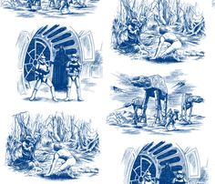 star-toile fabric by in_wonderland on Spoonflower - custom fabric