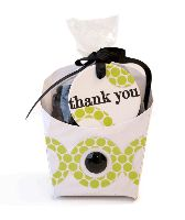 Thank You Treat Box by @Carissa Wiley using Lifestyle Crafts fry box die and nesting circles. #diy #diecut