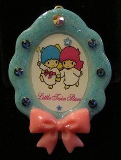 Resin Blue Cameo Style Kiki Lala Little Twin Stars by chalupascornernook