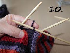 Hjerte GO`H Design: Hvordan strikke tommel på vott; en step by step forklaring Fair Isles, H Design, Mittens, Knitting Patterns, Fingerless Mitts, Knit Patterns, Fingerless Mittens, Knitting Stitch Patterns, Gloves