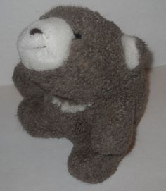 "Gund? Snuffles Brown Polar Teddy Bear Stuffed Plush Sherpa 7"" Berber Beanbag #Gund"