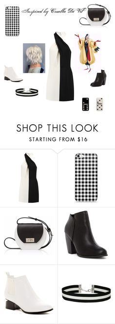 """Cruella Dr Vil"" by yellow-rainbow-ninja0509 ❤ liked on Polyvore featuring Halston Heritage, Joanna Maxham, Michael Antonio, Modern Rebel, Miss Selfridge and Marc Jacobs"
