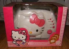 NEW IN BOX SANRIO HELLO KITTY Toaster Two Slice Cool Touch Exterior Vintage