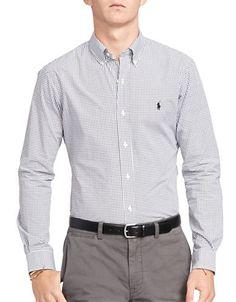 POLO RALPH LAUREN Polo Ralph LaurenTattersall Poplin Shirt. #poloralphlauren #cloth #