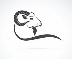 Vector image of an goat head design on white background 1 - Files Vector (. Capricorn Images, Christening Invitations Girl, Om Tattoo Design, Clinic Logo, Ramadan Greetings, Goat Farming, Animal Logo, Animals Images, Graphic Patterns
