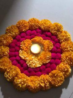 Diwali Decoration Items, Thali Decoration Ideas, Diwali Decorations At Home, Festival Decorations, Flower Decorations, Wedding Decorations, Rangoli Designs Flower, Rangoli Designs Diwali, Diwali Rangoli