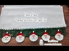 Passo a passo Barradinho de Papai Noel de crochê