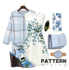 """""""Pattern mix"""" by heidi-jacob ❤ liked on Polyvore featuring ERIN Erin Fetherston, Lana, Skagen, Yves Saint Laurent, Sonix, Balenciaga and patternmixing"""