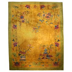 """Chinese Deco Carpet  Shanghai, China c. 1920 Wool  108.0"""" wide, 144.0"""" deep Collection #CRCH66"""