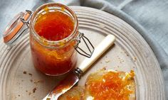 Carrot Jam. Had this a tea house and it was delicious on the scones we had!  Haven't decided yet if I'm brave enough to try canning