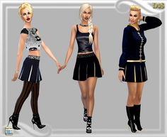 NY Weekend skirt at Dreaming 4 Sims via Sims 4 Updates