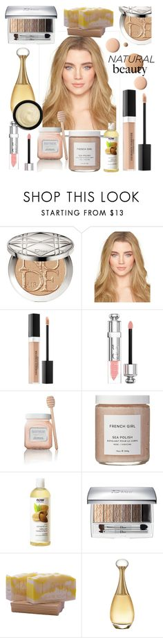 """Natural Beauty!"" by lenaaa12 ❤ liked on Polyvore featuring beauty, Christian Dior, CC, Laura Mercier, French Girl and Grown Alchemist"