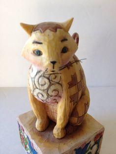 """Heartwood Creek Jim Shore """"JASPER"""" 114424 Multi-Colored CAT Statue Figurine"""