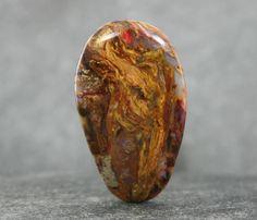 Pietersite Designer Cabochon, Chatoyant Gemstone Cabochon, Rare African Golden Pietersite, Collector Gemstone, Jewelry Designer Focal Stone by StonyMountainGems on Etsy