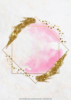 Poster Background Design, Logo Background, Pink Glitter Background, Nail Designer, Floral Logo, Baby Shower Invitation Templates, Templates Printable Free, Flower Frame, Flower Backgrounds