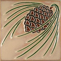 Arts and Crafts style 6x6 tile   by Prairie Mile Tile of Lincoln, NE