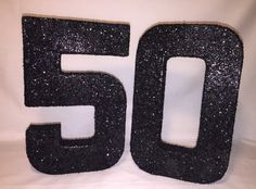 Glittered Numbers-50-50th Birthday by KailisGlitzyBowtique on Etsy
