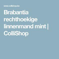 Brabantia rechthoekige linnenmand mint   ColliShop