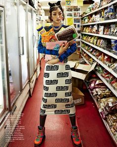 Image result for grocery store fashion editorial