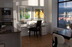 Small Bedroom + Desk Design Ideas, Pictures, Remodel, and Decor Computer Desk Design, Computer Desks For Home, Home Desk, Top Computer, Bureau Design, Small Space Office, Small Spaces, Desk In Living Room, Bedroom Desk