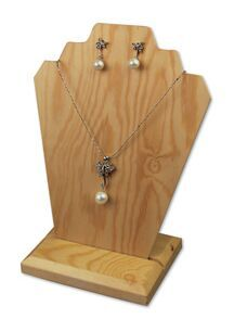 Necklace Display Stand Jewelry Gold Silver Chains Easel