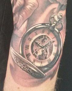 Pocket watch tattoo detail #tattoo #pocket watch