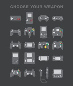 Hard.. too many to choose from. butttttt i am a nintendo girl so the nintendo controller, super nintendo controller, N64 controller, gameboys, and Wii :)
