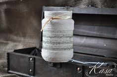 Decoupaged Vintage Music Sheet Ornament Small by KasaStudioDesigns