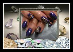 Purple and diamonds.