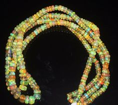 """1 Strand 4 to 6 mm 16"""" Beads Natural Genuine Ethiopian Welo Fire Opal** 425"""