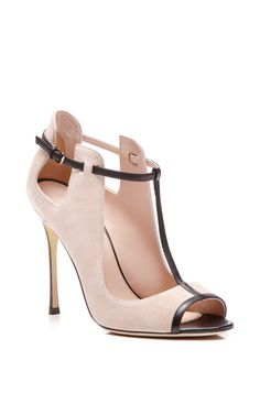 Emperor Leather-Trimmed Suede Pumps by Sergio Rossi | FW 2014 | cynthia reccord