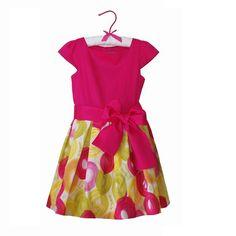 Rochie din bumbac imprimat cu cerculete Girls Dresses, Summer Dresses, Veil, Girl Outfits, Tulle, Satin, Velvet, Elegant, Cotton