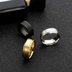 3-stone Women Party Ring Gold Color Band New Multiple Size