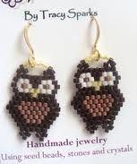 owl seed bead earrings - Google Search