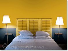 Bedroom Wall Colors: Bedroom Paint Colors For A Dream Retreat Yellow Bedroom Paint, Blue Bedroom Colors, Bedroom Color Schemes, Shabby Chic Bedrooms, Trendy Bedroom, Guest Bedrooms, Ikea Bed, Home Bedroom, Home Interior Design