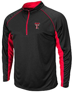Texas Tech Red Raiders Black  Zip Synthetic Light Weight Top $33.95