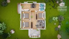 10 Contemporary House Designs With Floor Plan Perfect for Modern Family Modern Bungalow House, Bungalow House Plans, Small House Plans, House Floor Plans, Single Floor House Design, Small House Design, Modern House Design, Beautiful Small Homes, Contemporary House Plans