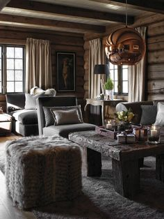 Love the introduction of copper into a chalet design Chalet Design, Cabin Design, Rustic Design, Design Design, Chalet Interior, Home Interior Design, Cabin Homes, Log Homes, Cabin Interiors