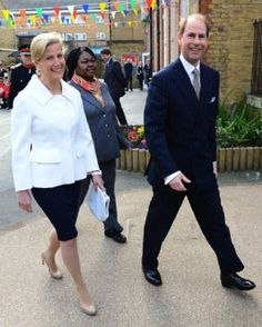 The Earl and Countess of Wessex visit Robert Browning School on the Earl's 50th Birthday, London, UK on the 10.03.14.