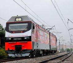 Siemens Electric Locomotive at VNIIZhT test circuit in Russia