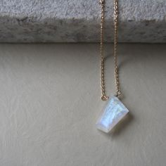 Geometric Moonstone Necklace by ATELIER Gaby Marcos